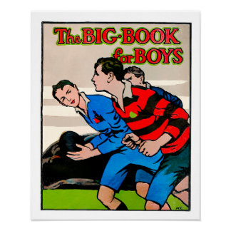 The Big Book For Boys - Rugby Print