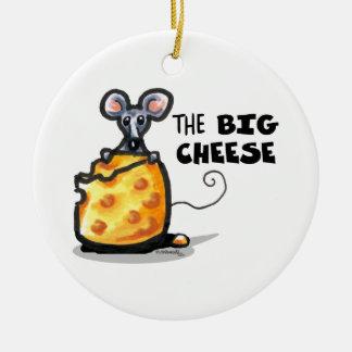 The Big Cheese Ceramic Ornament