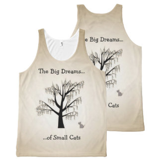 The Big Dreams of Small Cats All-Over Print Singlet