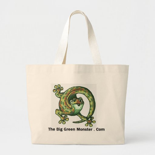 The Big Green Monster Wear Canvas Bags