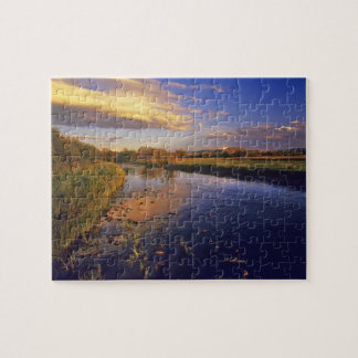 The Big Hole River at last light near Jackson Jigsaw Puzzle
