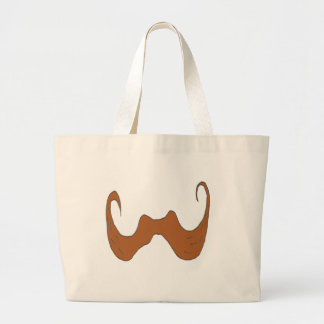 THE BIG MOUSTACHE 1 PNG TOTE BAGS