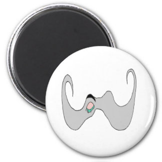 THE BIG MOUSTACHE EYE CLOSED 1 PNG REFRIGERATOR MAGNETS