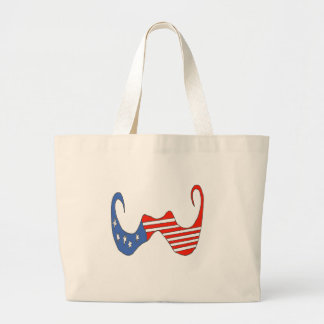 THE BIG MOUSTACHE the USA 1 PNG Canvas Bags