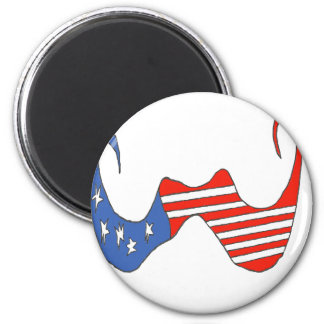 THE BIG MOUSTACHE the USA 1 PNG Refrigerator Magnet