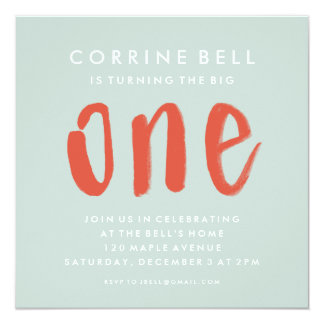 The Big One | First Birthday Party Invitation
