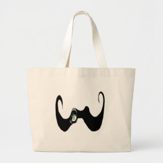 THE BIG OPEN MOUSTACHE EYE 1 PNG TOTE BAG