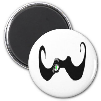 THE BIG OPEN MOUSTACHE EYE 1 PNG REFRIGERATOR MAGNETS