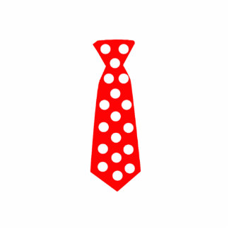 The Big Red and White Polka Dot Tie. Fun Pop Art. Standing Photo Sculpture