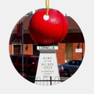 THE BIG RED APPLE - Cornelia, Georgia Ceramic Ornament