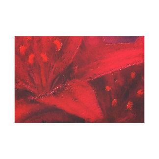 The Big Red Flower Gallery Wrapped Canvas