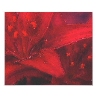 The Big Red Flower Photo Art