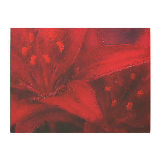 The Big Red Flower Wood Prints