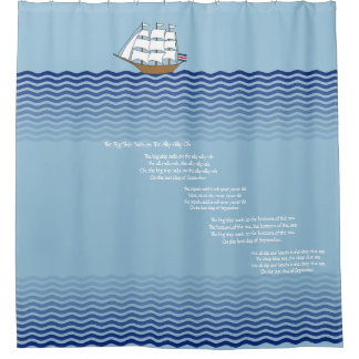 The Big Ship Sails on The Ally-Ally-Oh Shower Curtain