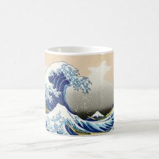 The big wave of Kanagawa Katsushika Hokusai Basic White Mug