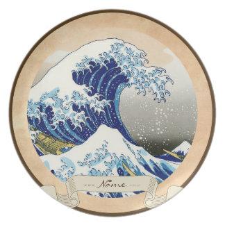 The big wave of Kanagawa Katsushika Hokusai Party Plates