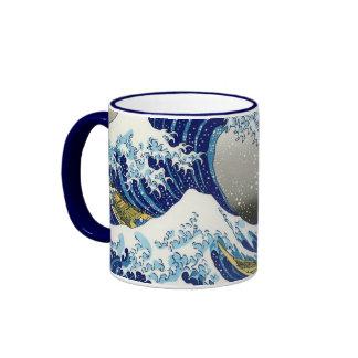 The big wave of  Kanagawa Katsushika Hokusai Ringer Mug