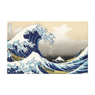 The Big Wave off Kanagawa Canvas Print