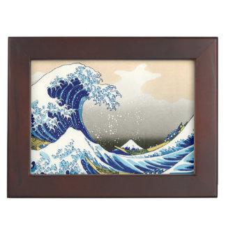 The Big Wave off Kanagawa Hokusai Katsushika art Keepsake Boxes