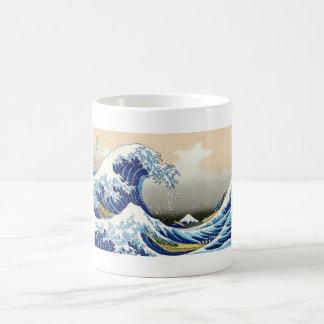 The big wave off Kanagawa Katsushika Hokusai Basic White Mug