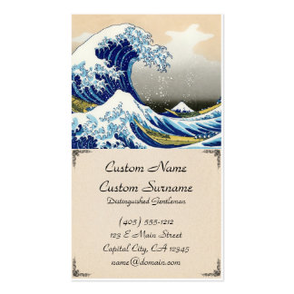 The big wave off Kanagawa Katsushika Hokusai Business Card