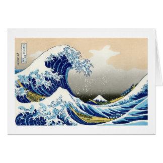 The big wave off Kanagawa Katsushika Hokusai Note Card
