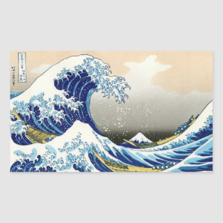 The big wave off Kanagawa Katsushika Hokusai Rectangular Sticker