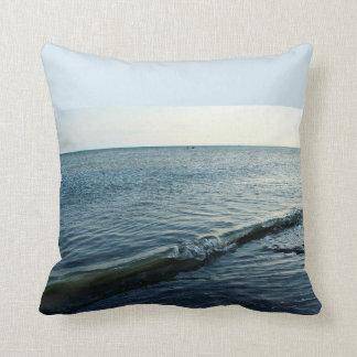 The big wave throw pillow