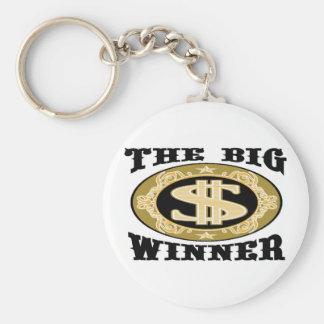 THE BIG WINNER BASIC ROUND BUTTON KEY RING