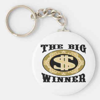 The Big Winner T-shirts and Gifts. Basic Round Button Key Ring