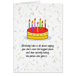 The Biggest Piece Birthday Card