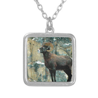 The Bighorn Ram Silver Plated Necklace