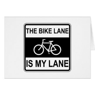 The Bike Lane Sign Card