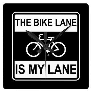 The Bike Lane Sign Clock