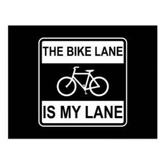 The Bike Lane Sign Postcard