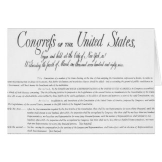 The Bill of Rights Greeting Card