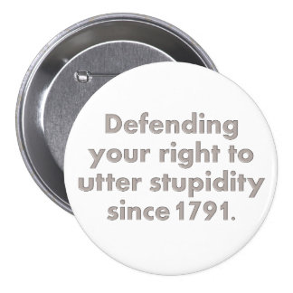 The Bill of Rights is an important document Buttons