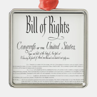 The Bill of Rights Silver-Colored Square Decoration