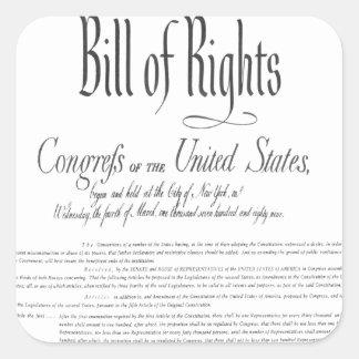 The Bill of Rights Square Sticker