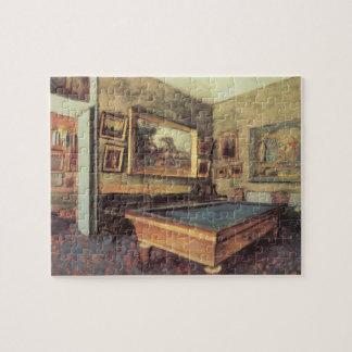 The Billiard Room at Menil Hubert by Edgar Degas Jigsaw Puzzle