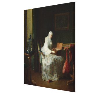 The Bird Organ or A Woman Varying Her Canvas Print