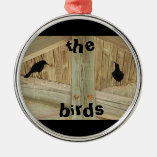 The Birds Silver-Colored Round Decoration