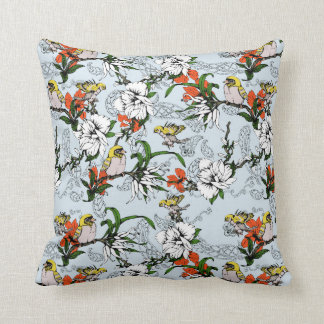 The Birds of Paradise and the Paisley Garden Cushion