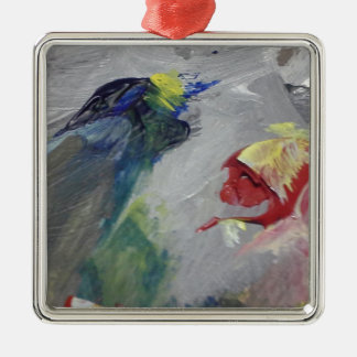 The Birds Silver-Colored Square Decoration