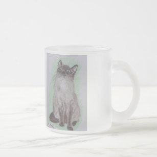 The Birdwatcher Siamese Cat Frosted Mug