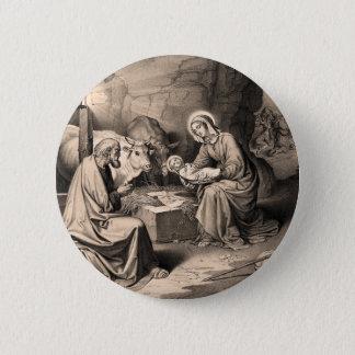 The birth of Christ 6 Cm Round Badge