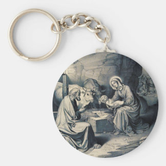 The birth of Christ Key Ring