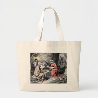 The birth of Christ Large Tote Bag
