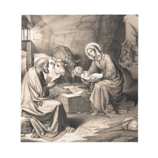 The birth of Christ Notepad