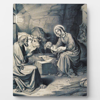 The birth of Christ Plaque